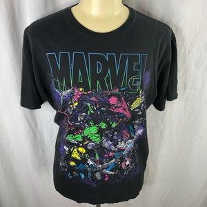 Marvel Mens Black XL T-shirt in good condition